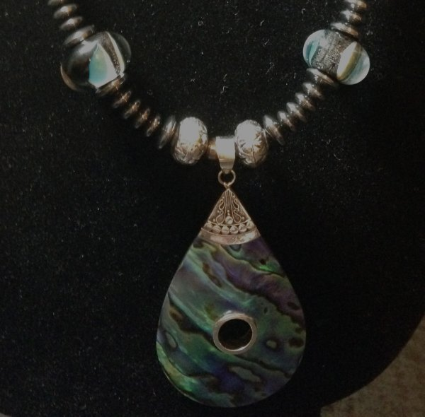 Lampwork, Abalone, Necklace